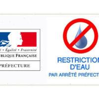 Arrêté préfectoral – Mise en place de restrictions d'eau de 9h à 20h