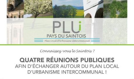 Réunion publique sur le Plan local d'urbanisme intercommunal (PLUi) le 5 Décembre à 19h