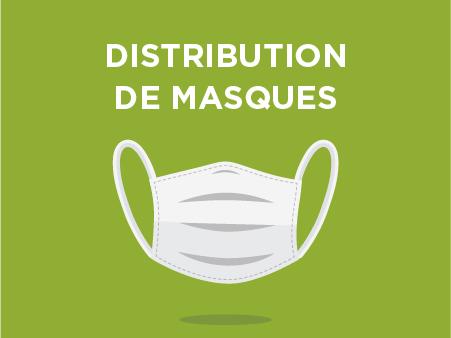 Distributions de masques à l'école maternelle le samedi 13 juin de 9h à 13h