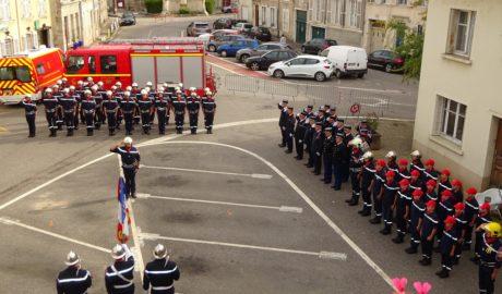 Passation de commandement du centre de secours de Vézelise
