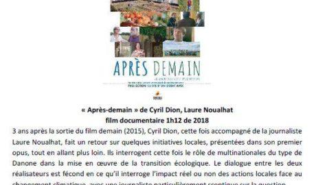 Ciné-débat sur la transition écologique à Tantonville le 10 mars à 20h00
