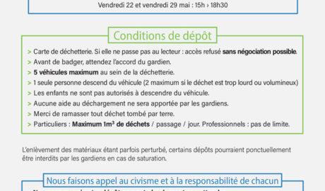 Réouverture de la déchetterie du Saintois : horaires et consignes