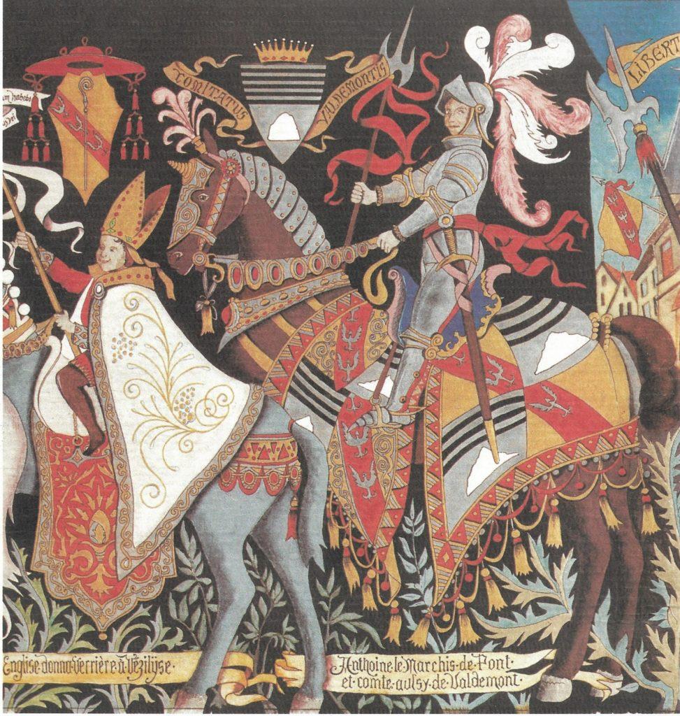 Duc Antoine jeune. Extrait de la fresque de l'ancien Palais de Justice de Vézelise