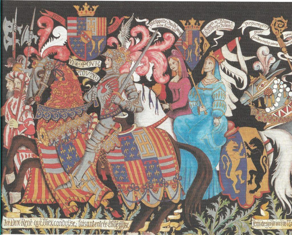 Entrée de Renée II à Vézelise, fresque de l'ancien Palais de Justice