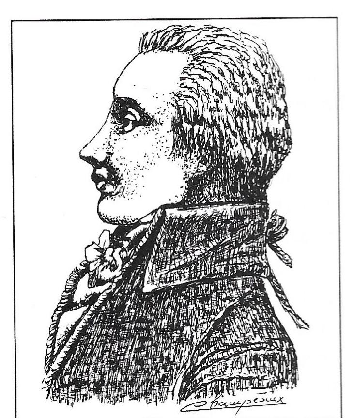 Portrait de Jean-Baptiste Salle, d'après une gravure de l'époque. Dessin Daniel Champeaux